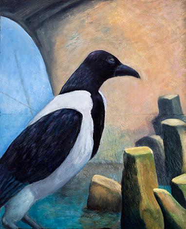 Painting by Paci Hammond, 'Asian Crow Galata'