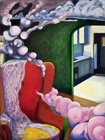 Painting by Paci Hammond, 'Silverlake Interior'