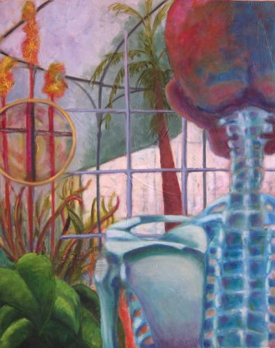 Paci Hammond Paintings - Looking out, looking in
